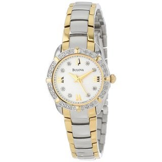 Bulova Women's 98R170 Two Tone Water resistant Stainless Steel and Diamond Watch