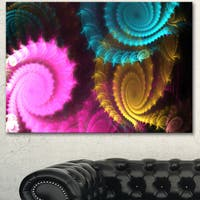 Designart 'Color Swirl Fractal Abstract Background' Large Abstract Canvas Artwork
