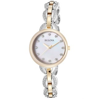 Bulova Women's 98L206 Two Tone Stainless Steel Watch with a Swarovski Crystals