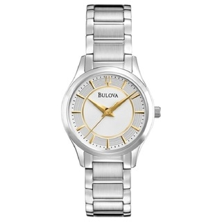 Bulova Women's 96L175 Stainless Steel Silver Tone Watch with a scratch Resistant Mineral Crystal