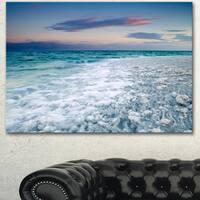 Designart 'Beautiful Sunrise at Dead Sea' Modern Seashore Canvas Wall Art Print