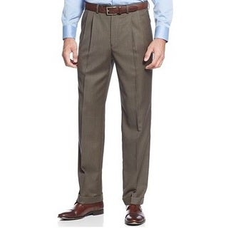 Ralph Lauren Men's Olive Wool Dress Pants