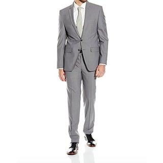 DKNY Men's Two-Piece Gray Wool Skinny-Fit Suit