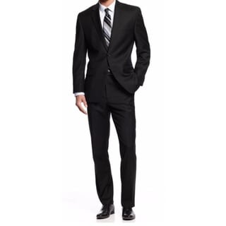 Michael Michael Kors Men's Two-Piece Black Wool Classic-Fit Suit