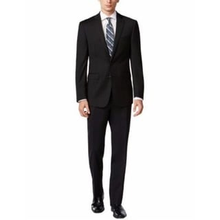 Calvin Klein Men's Xfit Two-Piece Charcoal Wool Slim-Fit Suit