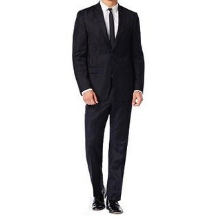 Calvin Klein Men's Xfit Two-Piece Camo Wool Slim-Fit Suit