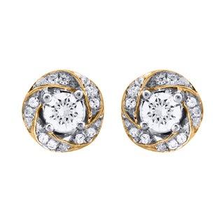 14k Yellow Gold 2/5ct TDW Diamond Earrings (I1-I2)