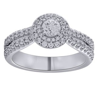 14k White Gold 1CTtw Diamond Engagement Ring