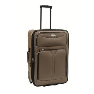 Bon Voyage Luggage Excursion Taupe 28-inch Expandable Rolling Suitcase