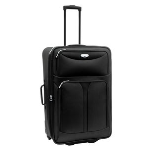 Bon Voyage Luggage Excursion Black 25-inch Expandable Rolling Suitcase