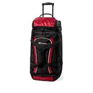 Samboro Luggage Red 28-inch Drop Bottom Rolling Duffel Bag