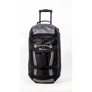 Samboro Luggage Grey 21-inch Carry On Drop Bottom Rolling Duffel Bag