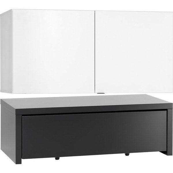 Voelkel Young Users Collection 2-door Low Cabinet Platform and Drawer