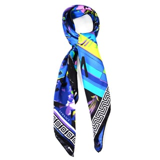 Versace Women's Abstract People Foulard Silk Scarf