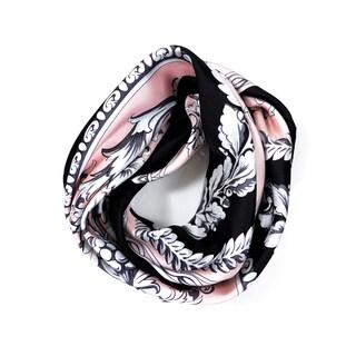Versace Women's Circular Floral Foulard Silk Scarf