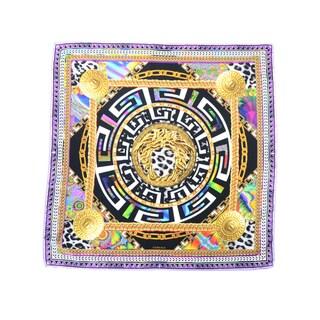 Versace Women's Geometrical Square Maze Fouldard Silk Scarf