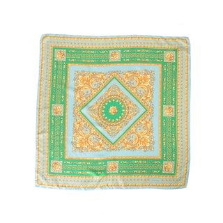 Versace Women's Geometrical Square Foulard Silk Scarf