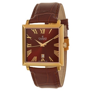 Charmex Men's Brown Leather Watch