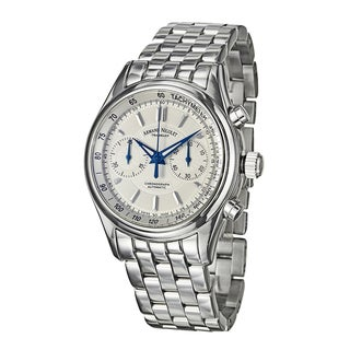 Armand Nicolet Men's M02 Silver and White Stainless Steel Swiss Mechanical-automatic Watch