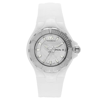 TechnoMarine Women's White Rubber/Stainless Steel/Ceramic Watch