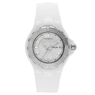 TechnoMarine Women's White Rubber/Stainless Steel/Ceramic Watch|https://ak1.ostkcdn.com/images/products/13169394/P19893838.jpg?impolicy=medium