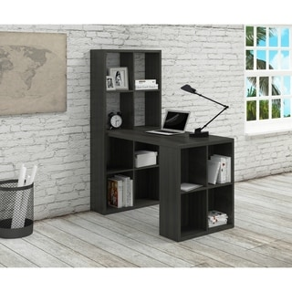 Noir MDF Computer Desk with Storage