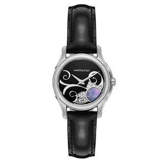Hamilton Jazzmaster Women's Stainless Steel Case and Black Patent Leather Strap Swiss Quartz Watch|https://ak1.ostkcdn.com/images/products/13169418/P19893841.jpg?impolicy=medium