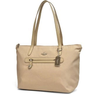 Coach Tan 35500 Nylon Zip Tote
