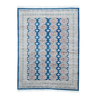 Shahbanu Rugs Oriental Multicolored Wool Hand-knotted Jaldar Bokara Rug (9'3 x 12'3)