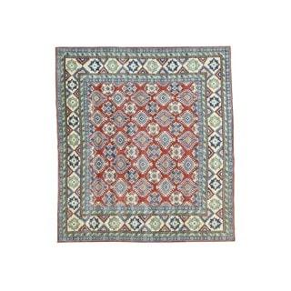 1800GetaRug Wool Hand-knotted Tribal-design Square Kazak Rug (9'2 x10'2)