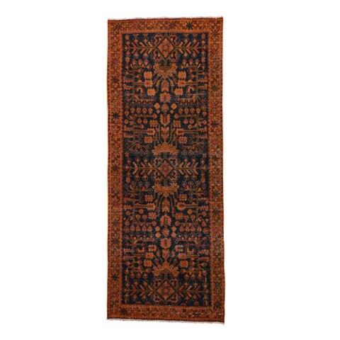 Shahbanu Rugs Hand-knotted Overdyed Persian Lilihan Runner Wool Carpet (3'7 x 9'4)