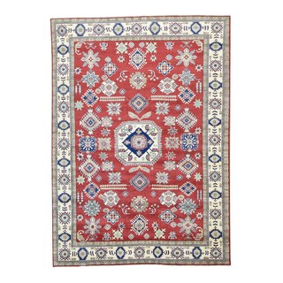 1800GetaRug Kazak Tribal Design Red Wool Hand-knotted Rug (8'4 x 11'7)