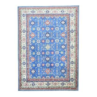 1800GetaRug Kazak Tribal Design Oriental Blue Wool Hand-knotted Area Rug (10'2 x 14'3)