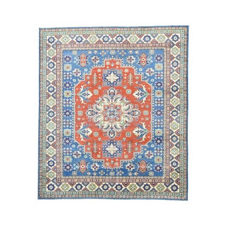 1800GetaRug Hand-knotted Red Kazak Tribal Design Wool Rug (8'7 x 9'10)
