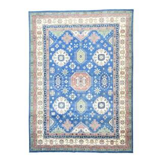 1800GetaRug Oriental Multicolored Wool Hand-knotted Kazak Tribal Rug (10'1 x 13'9)