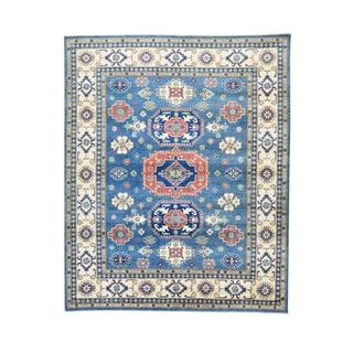 1800GetaRug Hand-knotted Multicolor Wool Geometric-design Kazak Oriental Rug (8'2 x 10')