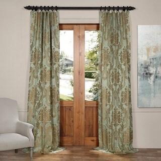 Exclusive Fabrics Astoria Beige Faux-silk Jacquard Curtain