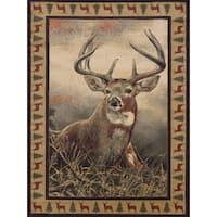 Westfield Home Ridgeland Royal Antlers Multicolor Olefin Area Rug - 7'10 x 10'6