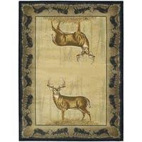 Westfield Home Ridgeland Gazing Deer Area Rug - 7'10 x 10'6