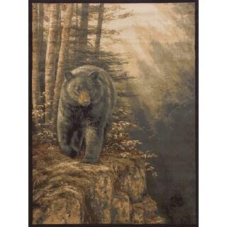 Westfield Home Ridgeland Multicolored Polypropylene Bear Forest Area Rug (7'10 X 10'6)