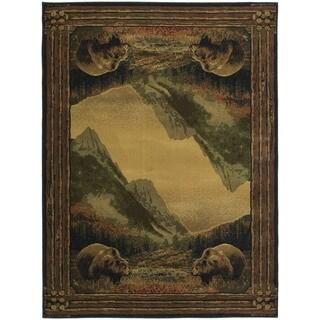 Westfield Home Ridgeland Mountain Bears Polypropylene Area Rug (7'10 x 10'6)