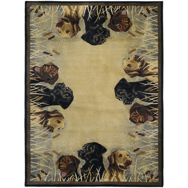 Westfield Home Ridgeland Triple Labs Area Polypropylene Area Rug - 7'10 x 10'6