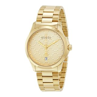 Gucci Unisex YA126461 'G-Timeless' Gold-Tone Stainless Steel Watch
