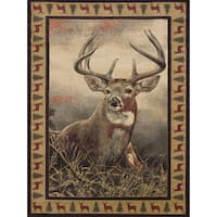 Ridgeland Royal Antlers Multicolor Polypropylene Area Rug - 5'3 x 7'6
