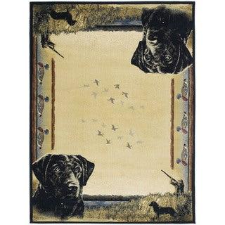 Westfield Home Ridgeland Hunter's Dog Multicolor Polypropylene Accent Rug (3'11 x 5'3)