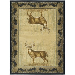 Westfield Home Ridgeland Gazing Deer Multicolor Olefin Accent Rug (3'11 x 5'3)