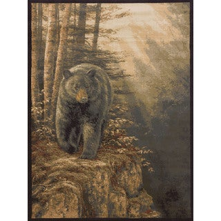 "Ridgeland Bear Forest Accent Rug - 3'11"" x 5'3"""