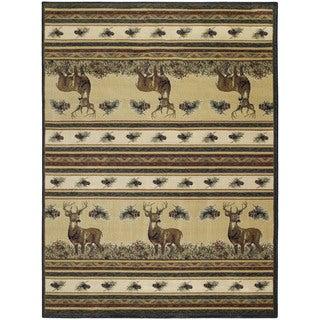 Westfield Home Ridgeland Deer Meadows' Multicolor Polypropylene Accent Rug (3'11 x 5'3)