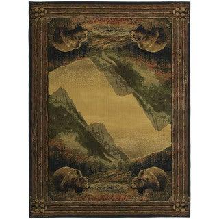 Westfield Home Ridgeland Mountain Bears Accent Rug (3'11 x 5'3)