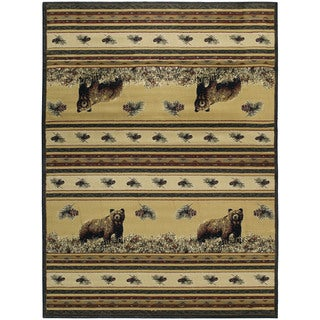 Ridgeland Twin Bears Accent Rug (3'11 X 5'3)